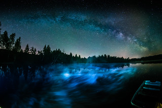 Milky Way Storm and a Boat