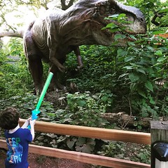 If T-Rex ever attacks, Emmett's got your back with the Dolphin Disco Saber.