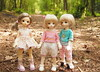3 little May's (sodabeentjes) Tags: bluefairy shiny fairy may bjd balljointed doll 1st 2nd 3rd
