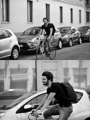 [La Mia Città][Pedala] (Urca) Tags: milano italia 2017 bicicletta pedalare ciclista ritrattostradale portrait dittico bike bycicle nikondigitale scéta biancoenero blackandwhite bn bw 10224