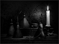 More light painting (Ed Phillips 01) Tags: light painting sculpting stilllife still life oil cans candle pocketwatch explored