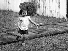 AZ (Beegee49) Tags: girl toddler filipina playing catch bacolod city philippines