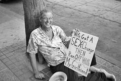 Entrepreneur (ROSS HONG KONG) Tags: money hollywood entrepreneur sign joke la losangeles california leica m8 black white bw blackandwhite street streetphoto monochrome