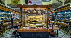 2017 - Japan - Osaka - Knife Hunt - 16 of 25 (Ted's photos - For Me & You) Tags: 2017 cropped japan nikon nikond750 nikonfx osaka tedmcgrath tedsphotos vignetting backpack knives store knifeshop osakajapan sabre saber people display displaycase knife