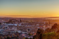The Edinburgh Skyline at Sunset (MilesGrayPhotography (AnimalsBeforeHumans)) Tags: architecture auldreekie a7ii 2870 sonyfe2870mmf3556oss britain balmoral bridge bridges city cityscape crags dusk edinburgh europe evening edinburghcastle castle castlerock firthofforth fife fe glow golden goldenhour historic haze historicscotland iconic ilce7m2 kingdomoffife landscape lens nd outdoors old oldtown oss photography photo rocks ruins scotland skyline sky scenic sunset summer sony sonya7ii town twilight uk unitedkingdom volcano volcanic