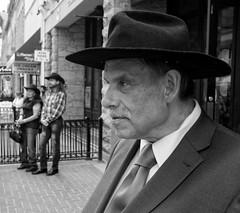 Calgary Stampede Time (Sherlock77 (James)) Tags: calgary downtown stephenavenue streetphotography people man calgarystampede cowboyhat