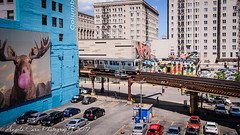 Wall Art with a view (ARCarn) Tags: chicago2017 buildings architecture wallart train thel urban