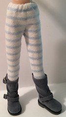 White With Blue Stripes...Tights For Blythe...