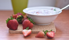 Strawberries (Br@jeshKr) Tags: food strawberries brajeshart strawberry breakfast molk oats morning table bowl healthy nutrition happysunday