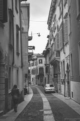 Walking in the past (Mariano Colombotto) Tags: verona veneto italy italia street calle callejera city ciudad streetphotography travel bnw blackandwhite byn blancoynegro nikon photographer photography old autofocus infinitexposure