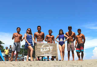 With the ELYU CLASSIC SURFING TEAM of San Juan, La Union, Philippines