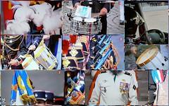 Détails de 14 juillet (brigeham34) Tags: télévision défilédu14juillet tambours plumet casoar drapeaux casquedepompier épée écharpe médailles képis fourragères fourreaux
