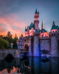 Castle Sunset (Justin in SD) Tags: disney disneyland california sleepingbeauty sleepingbeautycastle sunset color colors colorful hdr 32bit sony sonyalpha sonya7rii a7r2 a7rii
