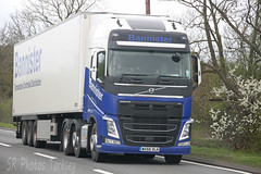 Volvo FH Bannister WX66 XLK (SR Photos Torksey) Tags: truck transport haulage hgv lorry lgv logistics road commercial vehicle freight traffic volvo fh bannister
