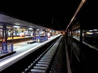View from night train at Toulouse