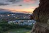 The Climber (Fading Dusk Photography) Tags: edinburgh edinburghcastle sunset citypanorama cityscape sigma1750mmf28 dof uk scotland kyoshimasamune holyroodpark salisburycrags catnick clouds cloudscape radicalroad goldenhour cokinfilters nd8 cokinnd8