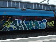 SYMBA (mkorsakov) Tags: münster hbf bahnhof mainstation zug train graffiti piece bunt colored rb66 westfalenbahn psa symba