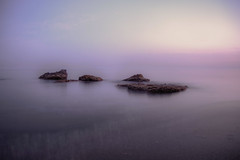 The rock (DAVID MARCHENA) Tags: landscape water sea seascape canon blue rock night light longexposure spain beach nature