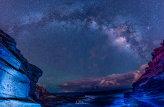 2017 Milky Way Tour - Submarine Point @ Lanai Lookout (JUNEAU BISCUITS) Tags: lanailookout hawaii haunamabay oahu honolulu milkyway astrophotography astronomy ocean longexposure nightphotography nightsky panorama pano panoramic nikond810 nikon