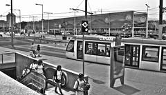 """Architecture"" (giannipaoloziliani) Tags: nikonphotography flickr train scale architettura place tram nikon nikond3200 nikoncamera citylife people architecture minimal monochrome monocromatico biancoenero blackandwhite barcelona spain spagna barcellona city"