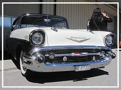 Chevrolet BelAir, 1957 (v8dub) Tags: chevrolet bel air 1957 chevy schweiz suisse switzerland bleienbach american gm pkw voiture car wagen worldcars auto automobile automotive old oldtimer oldcar klassik classic collector v8