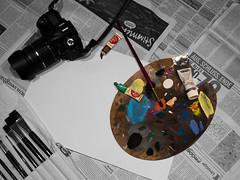 Is Photography art? (Niclas Matt) Tags: question stillife art artphotography schwarz weis suw bnw blackandwhite colors drawing brushes colorbrushes stillleben
