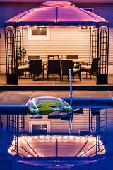 Backyard Pool (caal1233) Tags: floating summer blue purple canopy swimming pool reflection backyard
