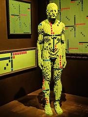 Assimilation (?) by Lego artist Nathan Sawaya (mharrsch) Tags: human green assimilation technology integration lego sculpture art nathansawaya artofthebrick exhibit omsi oregonmuseumscienceandindustry oregon mharrsch