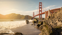 Golden Gate (Vano'verberghe Photographies) Tags: usa unitedstates etatsunis sky paysage landscape sigma nikon california californie sanfrancisco goldengate sunset ocean water eau