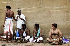 Varanasi 10 (rokobilbo) Tags: varanasi india people rest waiting custom color meeting