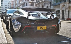 McLaren P1 (Jack de Gier) Tags: mclaren p1 chrome london uk knightsbridge mayfair pirelli exotic supercar worldcar hypercar limited rare horsepower curzon nikon unique ks1 racecar luxury wrapped