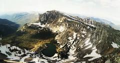 Torrey Peak, Montana, July 4th, 1997 (mlmck) Tags: montana vintagepanorama manualstitch torreypeak beaverheadnationalforest summit ridge arete hiking scramble scree riprap july4th summer