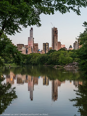 Another Lake Reflection (20170614-DSC04089) (Michael.Lee.Pics.NYC) Tags: newyork centralpark lake oakbridge cityscape architecture trees frame reflection sony a7rm2 zeissloxia50mmf2