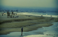 contemplation (MacroMarcie) Tags: newportbeach beach dusk colorful pier olympus penf 7dwf