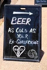 Noosaville, cold beer (blauepics) Tags: australia australien queensland qld noosaville sunshine coast cold beer kaltes bier sign zeichen advertisment werbung candid