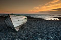 Abandoned Boat (Fifescoob) Tags: beach dunure ayr scotland ocean sea seascape coast tide sunset evening summer orange canon 5ds leefilters