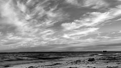 Big Sky (Andrew Malbon) Tags: sky skyline bigsky clouds cloudporn evening sunset sun summer leica leicam9 m9 zeiss carlzeiss biogon2128zm biogont2821 biogon 21mm 21 leendgrad lee06ndsoftgrad lee06nd landscape monochrome blackwhite portsmouth southsea southseacommon