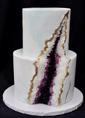 Geode cake (jennywenny) Tags: geode rock purple blue gold marble