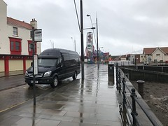 Mercedes Sprinter 316 CDI XLWB - Scarborough Sea Front (Paul.Bevan) Tags: mercedesbenz dodge sprinter xlwb 316 cdi uk 2017 cavansiteblue courier lighthaulage delivery freight transport expressdelivery outdoors brabus superhighroof scarboroughseafront wet windy greyskiy
