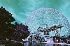 Biosphère de Montréal (Toine B.) Tags: montreal canada quebec biosphere ecomuseum musee argentique film nikonfe lomochrome lomography purple filmisnotdead