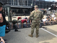 ARMY, Work out contest,  2017, NHRA, Nationals, at, Route 66, drag way, 7/8/2017, with my son, Freddie, and my son in law, Dimitri, (Picture Proof Autographs) Tags: army workoutcontest 2017 nhra nationals route66 dragway 782017 withmyson freddie andmysoninlaw dimitri nhranationals2017route66dragstripdragwaydragsterddragsterstopfuelfunnycarprostockhotwheelstommcewinnmongoosepapajohnspapajohnspizza