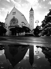 As above, so below? (un2112) Tags: church temple wekerle budapest hungary bw blackandwhite 818 monochrome g80 july reflection morning architecture