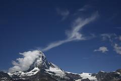Matterhorn & Clouds... (JohannesMayr) Tags: matterhorn schweiz switzerland zermatt wallis wolken clouds mountein berg himmel sky blue blau sunnegga