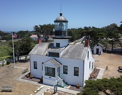 Point Pinos Lighthouse (El Kite Pics) Tags: kap kite aerial lighthouse pointpinos pacificgrove monterey california usa