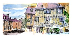 Conques - Occitanie - France (guymoll) Tags: croquis sketch aquarelle watercolour watercolor conques occitanie colombages
