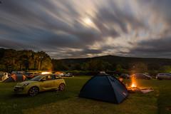 Waunfawr Nights (Rob Pitt) Tags: tyn yr onnen caravan camping park waunfawr nights moonlit moonlight camp fire vauxhall adam tent clouds longexposure wales cymru uk rob pitt photography
