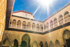 Peace of backlight (chenjieyu) Tags: sevilla andalucía 西班牙 es architecture palace sun sky backlight moorish