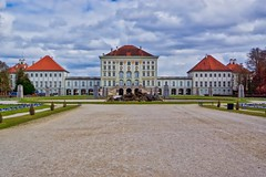 Castle Nymphenburg in Munich, Bavaria, Germany (UweBKK (α 77 on )) Tags: castle schloss nymphenburg munich münchen bavaria bayern germany deutschland europe europa sony alpha 77 slt dslr clouds sky grey cold weather