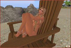 Dreaming on the beach (AliceMayG) Tags: sl secondlife beach beachwear swimsuit swimwear kiwiclub flightofthekiwis dreaming sunbathing