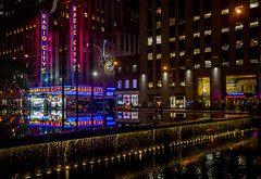Radio Nights (Jeffrey Friedkin) Tags: jeffreyfriedkinphotography architecture buildings city cityscene colors famous lights manhattan midtown newyork nyc night newyorkscene neon radiocitymusichall radiocity rcmh street streetscene w